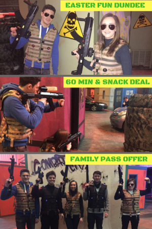 tactical laser tag Dundee Easter ScotKart